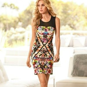 Boston Proper, Floral Scuba Illusion Dress, Sz O